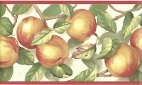 Delicious Golden Red Apples Wallpaper Border MK77659