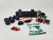 Ice Hole Power 12v Portable Power Box Component Kit (No Box) ice fishing camping