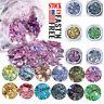 12 Mix Colors Art Powder GLITTER Dust SET UV Acrylic Nail Tips Glitters Manicure