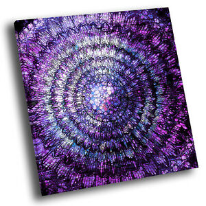 Retro Purple Black Square Abstract Photo Canvas Wall Art Large Picture Prints