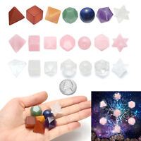 Lot 7 Gemstone Natural Crystal Quartz Healing Point Chakra Stone Solids Geometry