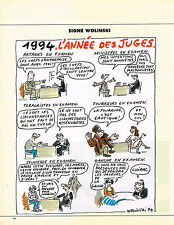 Breweriana, Beer Publicité Advertising 1992 Dessin Signe Wolinski