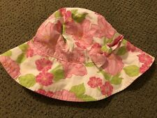 JANIE AND JACK GIRLS FLORAL HAT SUNHAT 2t-3t 2 3 EUC