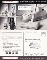 1960's ELECTROLUX GUARDIAN SERIES UNUSED ADVERTISING POSTCARD