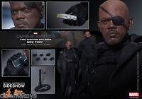 Captain America Samuel L. Jackson NICK FURY Action Figure Hot Toys Sideshow