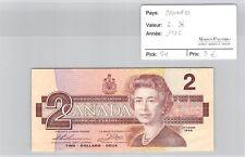 BILLET CANADA - 2 DOLLARS 1986