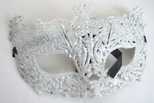 NEW Antique style silver glitter Masquerade Mask Ball Prom medieval Gothic