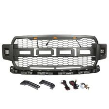 Front Gray Raptor Look Style Upper Grill Fit For Ford F-150 2018