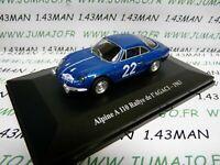 RE63G Voiture 1/43 eligor RENAULT Alpine : A110 Rallye de l'AGACI 1963