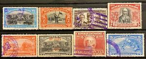 PANAMA - DIFFERENT TOPICS - LOT OF 8 USED STAMPS