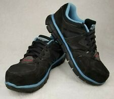 Sketchers Work Synergy Alloy Safety Toe Slip-Resistant Women Blue Sneakers 7.5