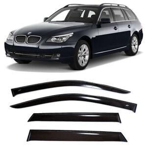 For BMW 5 Touring (E61) 2004-2010 Window Visors Side Rain Guard Vent Deflectors