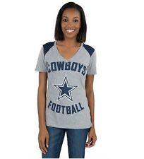 Womens Dallas Cowboys Nike Stadium Football Top Gray V-Neck Tee Ladies Small