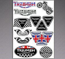 14 ADESIVI STICKERS VINILE AUTO MOTO SCOOTER TRIUMPH SPEED TUNING INGLESE D 59