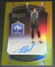 2016-17 Select Bernard Lama Historic Signatures GOLD # 08/10 France Auto