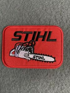 """Stihl Chain Saws Embroidered Patch Iron-On Sew-On 2-3/4"""" X 4"""""""