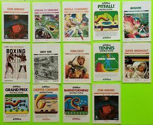 Atari 2600 Retro Video Game Manuals insert LOT 1b (×14 pc) complete SALE