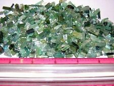 Tourmaline crystal blue green all natural mine rough 50 carat lots 25-55 pieces