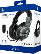 PS4 Headset Stereo Gaming v3 Khaki Kopfhörer für Playstation 4 Lizenz Bigben