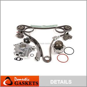 Fit 04-08 Nissan Maxima Quest Altima 3.5L Timing Chain Oil&Water Pump Kit VQ35DE