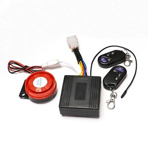 Motorcycle Scooter Anti-Theft Engine Start Security Alarm System 2Remote Control