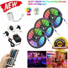 10-15M 3528 RGB TV Back Flexible LED Light Strip Kit + 44 Key Remote Controller