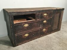 Vintage Solid Pine Sideboard Cabinet Cupboard Drawers Storage