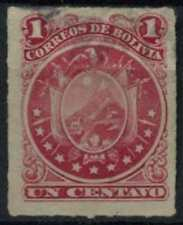 Bolivia 1887 SG#46, 1c Carmine Rouletted Used #D61688