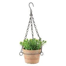 Blumenampel Terracotta AT Topf hängend S Terrasse Hängetopf Garten Pflanze Vase