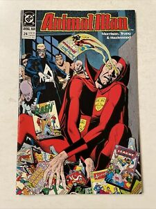 Animal Man #24 DC Vertigo 1990 Psycho Pirate Superman pre-Crisis Infinite Earths