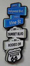 NEW California Hollywood Sign Fridge 3D Rubber Travel Tourist Memory Magnet
