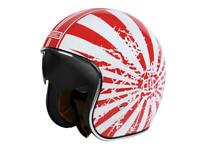Casque moto de route jet ORIGINE Sprint Japanese bobber rouge / blanc
