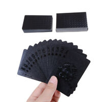 Carte da gioco nere Carte da poker Carte da poker in plastica impermeabile Carte