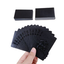Black Playing Cards Deck Magic card Plastic foil poker Waterproof Cards