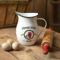 Fresh Eggs Pitcher Food Safe Farmhouse