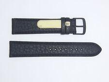 "DI-Modell Genuine Cowhide Waterproof Leather 20 mm BLACK Watch Band ""SPORT"""