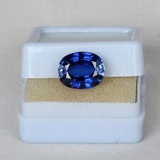 Natural Royal Blue Sapphire 7.25 Ct Kashmir Oval Cut Certified Loose Gemstone