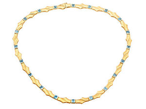Topaz and 9ct Yellow Gold Necklace - Vintage Circa 1960