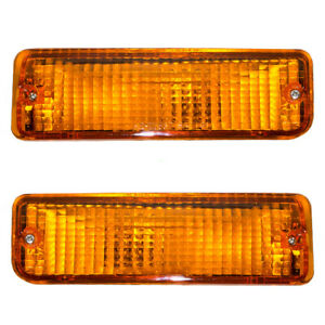 Fits Toyota T100 93-98 Truck Set of Front Side Park Signal Marker Lights Lamps