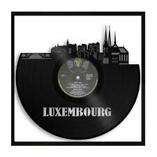 Luxembourg Vinyl Wall Art Cityscape Vintage Home Room Office Decor Framed