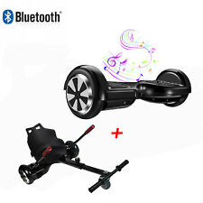 "6.5"" Bluetooth Hoverboard Self balance Electric Scooter + Hoverkart Go Kart Seat"