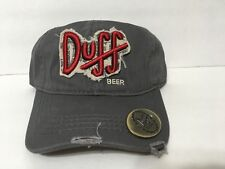 Universal Studios Exclusive The Simpsons Duff Beer Adult Baseball Cap Hat New