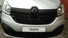 RENAULT TRAFIC 3 2014-  GLOSS BLACK FRONT GRILLE BADGE COVER