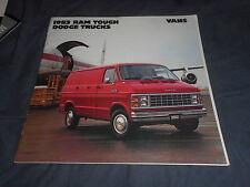 1983 Dodge Ram Tradesman Van Color Brochure Catalog Prospekt