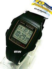CASIO F201WA-9A DIGITAL RESIN Sports Alarms Dual Time Stopwatch Man's Kids WATCH