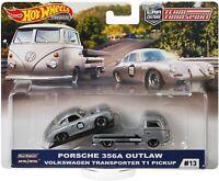 Hot Wheels 2019 Team Transport Porsche 356A Outlaw & VW T1 Transporter Pickup