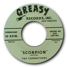 "CARNATIONS -""SCORPION"" c/w JIMMY GORDON -""Buzzzzzz"" KILLER  INSTRUMENTALS-LISTEN"