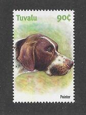 Dog Art Head Study Portrait Postage Stamp English Pointer Tuvalu Mnh