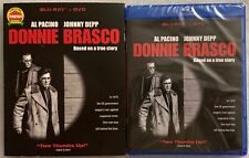 NEW DONNIE BRASCO BLU RAY DVD 2 DISC SET + RARE OOP SLIPCOVER SLEEVE BUY IT NOW