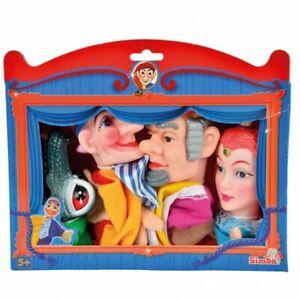 4tlg. Simba Kasperlefiguren Handspielpuppen Handpuppen Kasperletheater Puppe